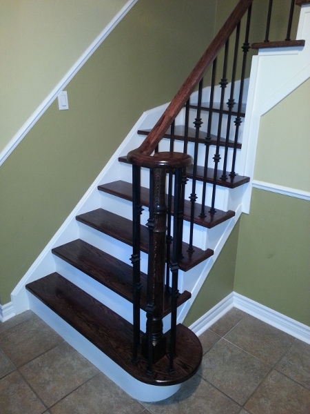 Enlarged First Staircase Step