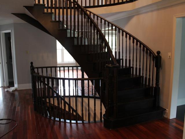 Hardwood Stairs Refinishing   Transformation In Photos