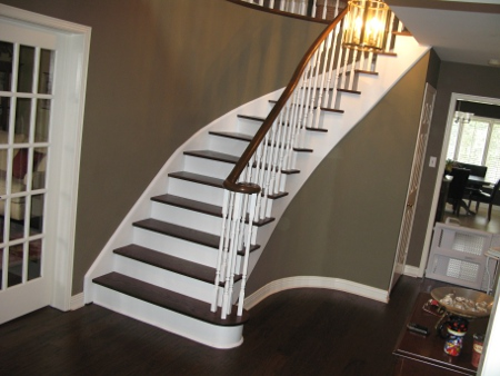 How to refinish wood stairs