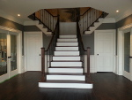 hardwood stairs refinishing project in oakville