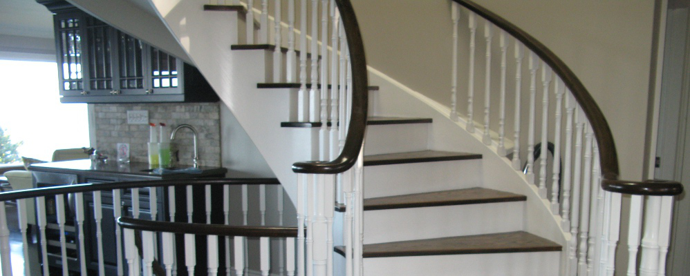 From carpet to hardwood stairs in Oakville